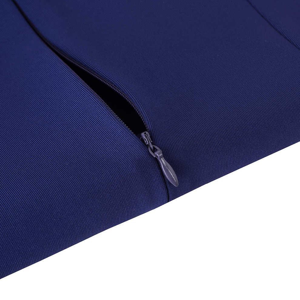 Для женщин элегантные Bodycon Работа деловая модельная одежда пикантные спереди с разрезом, миди платье в деловом стиле HB464