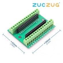 Nano v3.0 3.0 controlador terminal adaptador placa de expansão nano io escudo placa extensão simples para arduino avr atmega328p