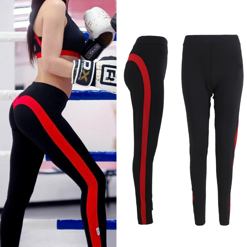 2017 Elastic Quick Dry Fitness pants Sports Fitness Tights Slim Leggings Running Sportswear Trousers Love Juicy Peach Show Hip