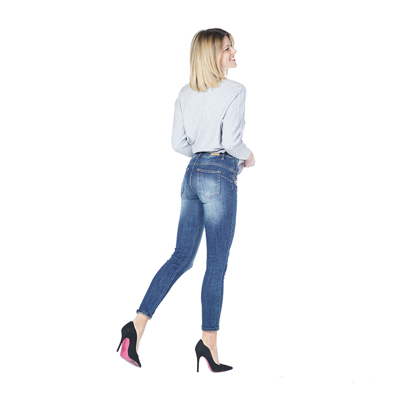 My Will Jeans Mid-Rise Tight-Fitting High-Elastic  Cotton Denim Pop Jeans 1153 Made In China