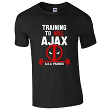 Nieuwe Traininger Doden Ajax AKA Francis T-Shirt-Deadpool Goku Fan Gift Mens Katoenen T-shirt Tops Tees Hip hop(China)