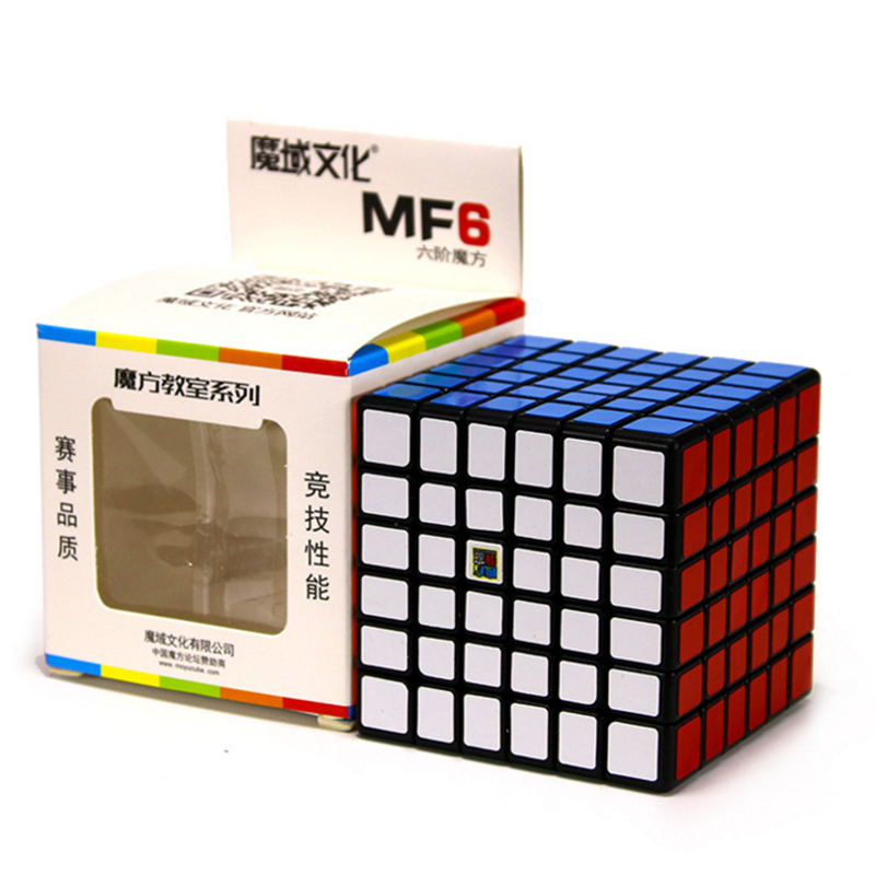 Moyu MofangJiaoshi MF6 Cube Speed 6Layers Stickerless 68mm Puzzle Cubes For Children cubo Championship 6x6 Learning EducationToy