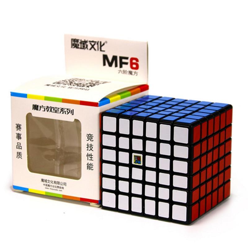 Moyu MofangJiaoshi MF6 Cube Vitesse 6 Couches Stickerless 68mm Puzzle Cubes Pour Enfants cubo Championnat 6x6 D'apprentissage EducationToy