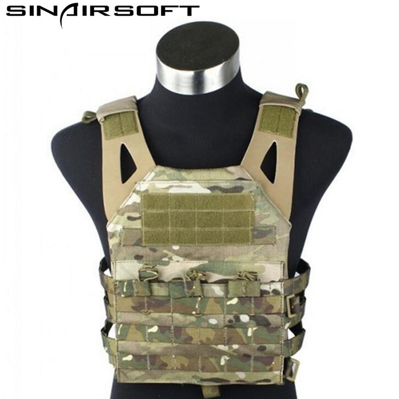 Multicolor Tactical Compact Plate Carrier JPC Vest Army Fans Molly Combat Gear Simplified Version