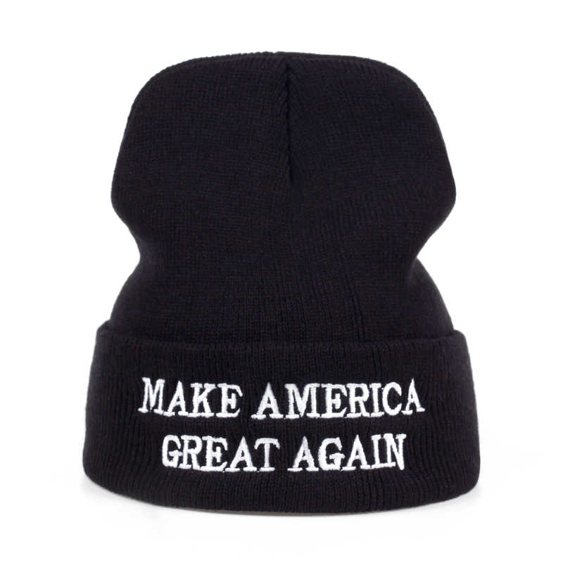 c3c1a12999a ... 2017 new MAKE AMERICA GREAT AGAIN! - Donald Trump 100% Acrylic Warm  Knitted Beanie ...