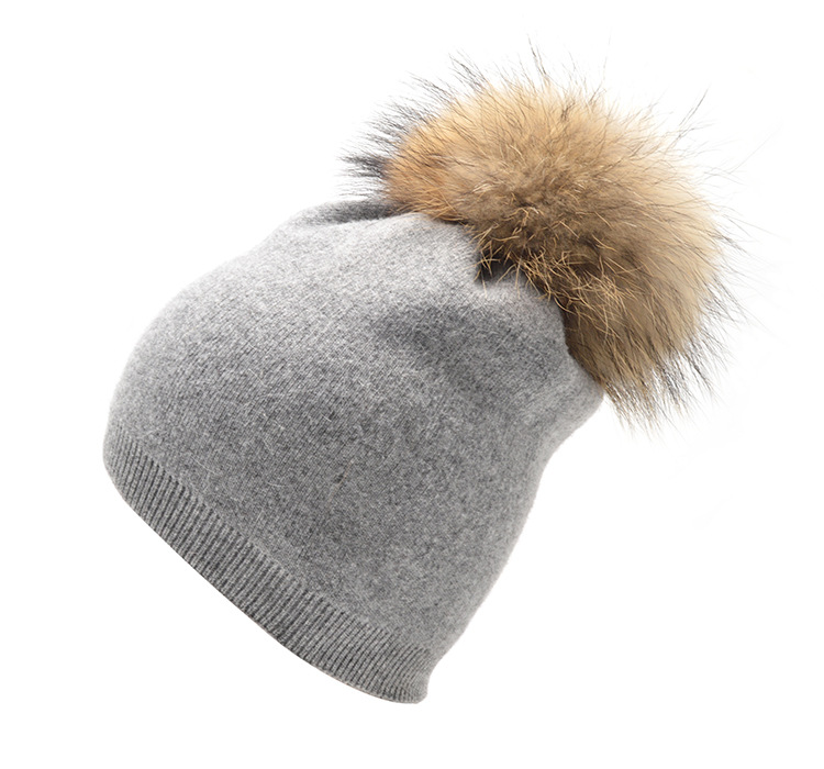 Women winter hat wool knitted beanies cap real natural fox fur pompom hats solid colors gorros cap female causal hat все цены