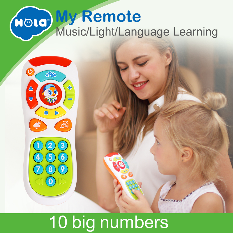 HOLA 3113 Baby Toys Electric Click & Count Remote with Light & Music Kids Early Learning Educational Toys for Toddler GiftHOLA 3113 Baby Toys Electric Click & Count Remote with Light & Music Kids Early Learning Educational Toys for Toddler Gift