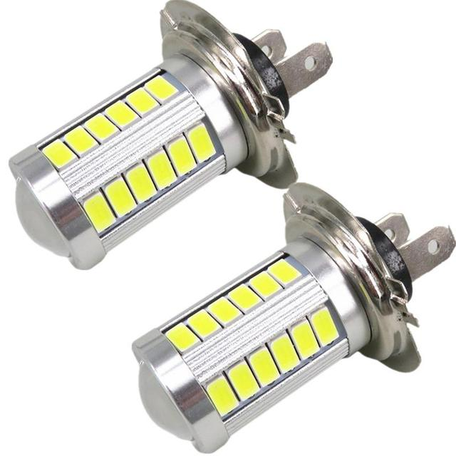 WLJH 2x H7 Led White High Power Light for Samsung Led Chip 5630 Chip Fog Light Headlight Driving DRL Car Light Auto Bulb