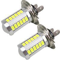 2pcs Xenon White High Power H7 LED Light For Samsung 5630 Chip 33 SMD Fog Light
