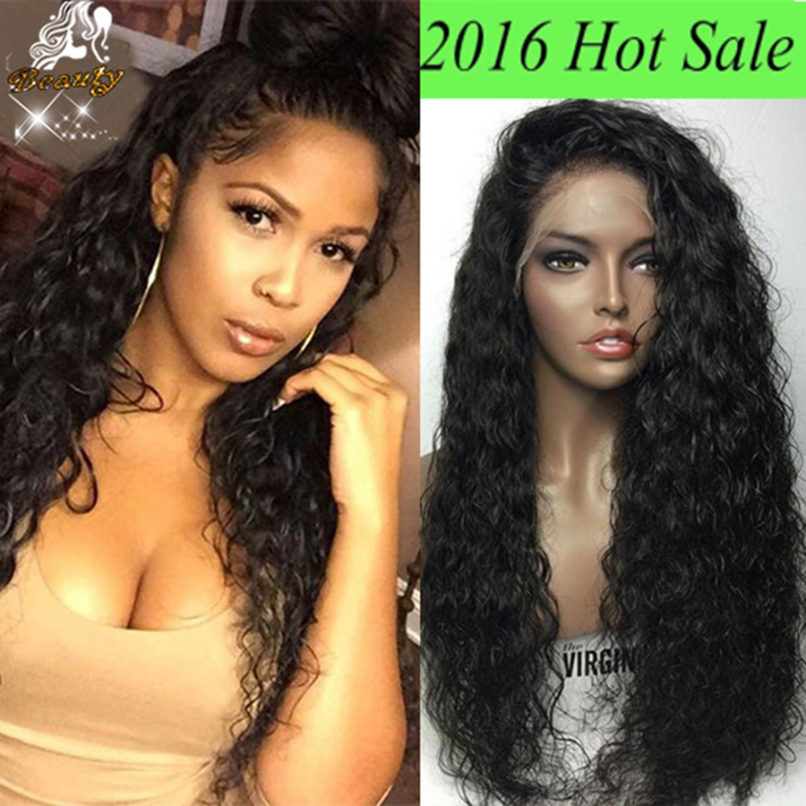 Wet Wavy silk top full lace wig for black women 8A Brazilian glueless silk  base full lace wig with baby hair full front silk wig-in Human Hair Lace  Wigs ... e3de617af1