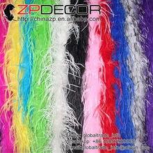 42d3dac31fcd ZPDECOR 35g 2 yards lot Multi-Couleur Bonne Qualité Fluffy Artisanat Plume  D autruche Plume Écharpe Vêtements pour Décoration de.