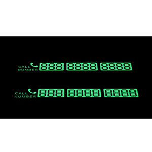 Image 3 - Temporary Car Parking Card Telephone Number Card Notification Night Light Sucker Plate Car Styling Phone Number Card Car Decal