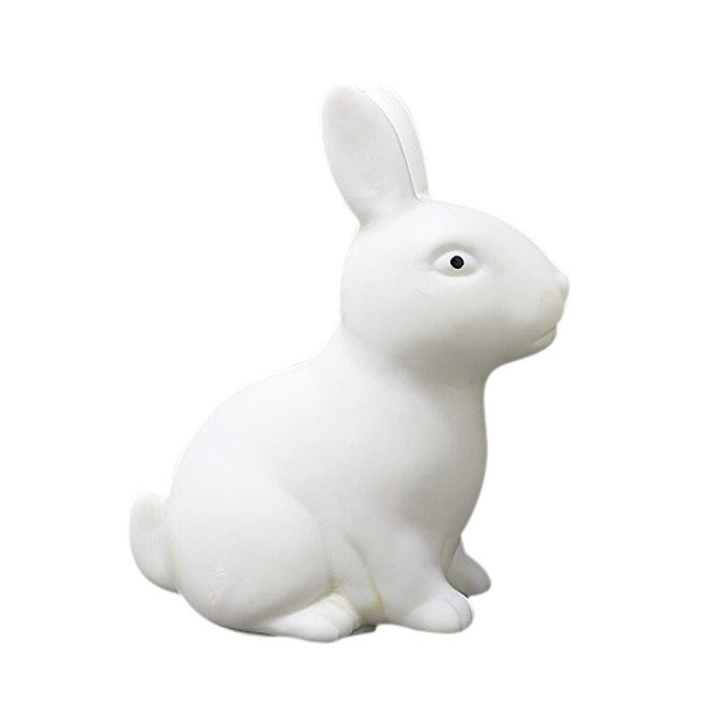 2Pcs Color Changing Cute Rabbit-Shaped LED Night Light Decoration Bedside Lamp