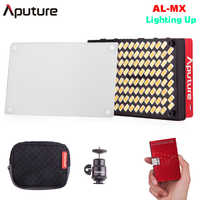 Aputure AL-MX LED Video Color temperatura 2800-6500k TLCI/CRI 95 + Luz de relleno en la Cámara tamaño de bolsillo pequeña iluminación LED para DSLR