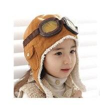 2018 sombrero del bebé del invierno Niño niños niñas niños piloto aviador  caliente lindo oídos del 1005980244a