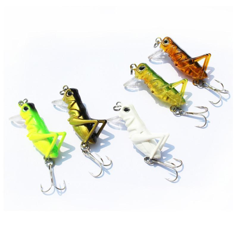 1Pcs 3g 4cm Grasshopper insects Fishing Lures Sea fishing Tackle Flying Jig Wobbler Lure hard lure bait Artificial bait wldslure 1pc 54g minnow sea fishing crankbait bass hard bait tuna lures wobbler trolling lure treble hook