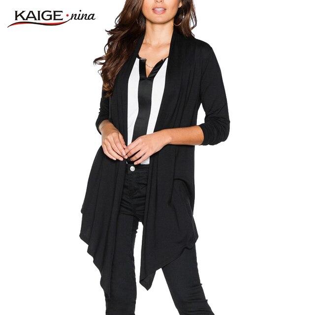 Winter Women Coat 2017 Kaige.Nina Brand Winter Coat Women Chic Fashion Open Stitch Plus Size Casual Lady Coats Tops 9012