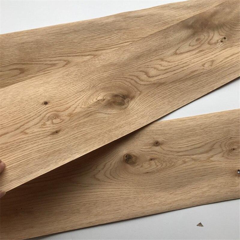 5x Natural Veneer Genuine Wood Veneer Sliced Veneer Vintage Knot Oak Knotty Furniture Veneer 18cm X 2.9m 0.5mm Thick