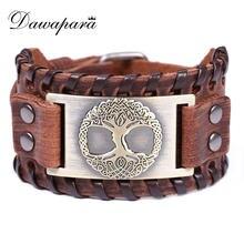 Кожаный браслет dawapara в стиле панк винтажный Шарм «Древо