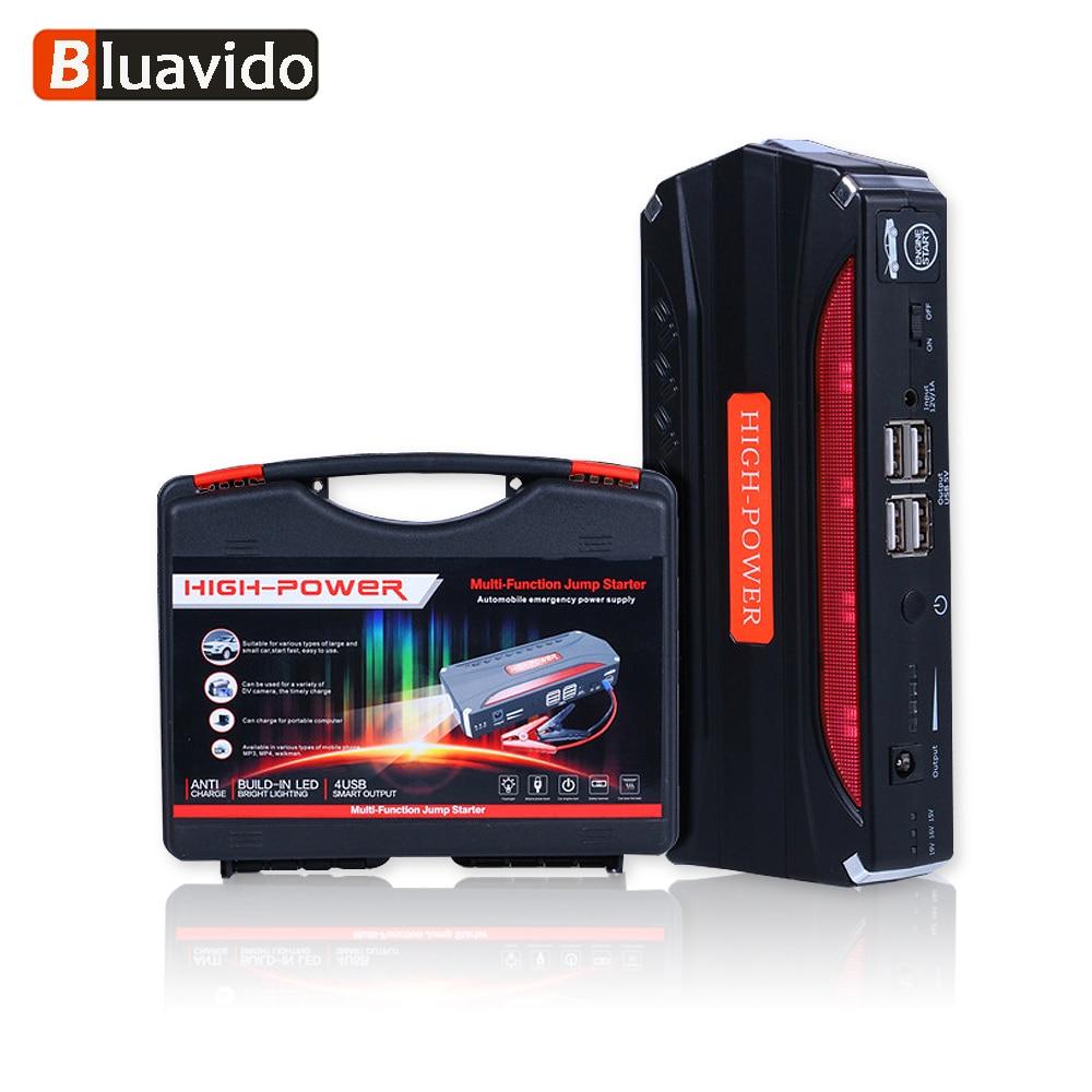 Bluavido 68800 mAh démarreur de saut de voiture d'urgence 12 V Portable multi-fonction rechargeable batterie externe SOS lumière LED marteau de sécurité