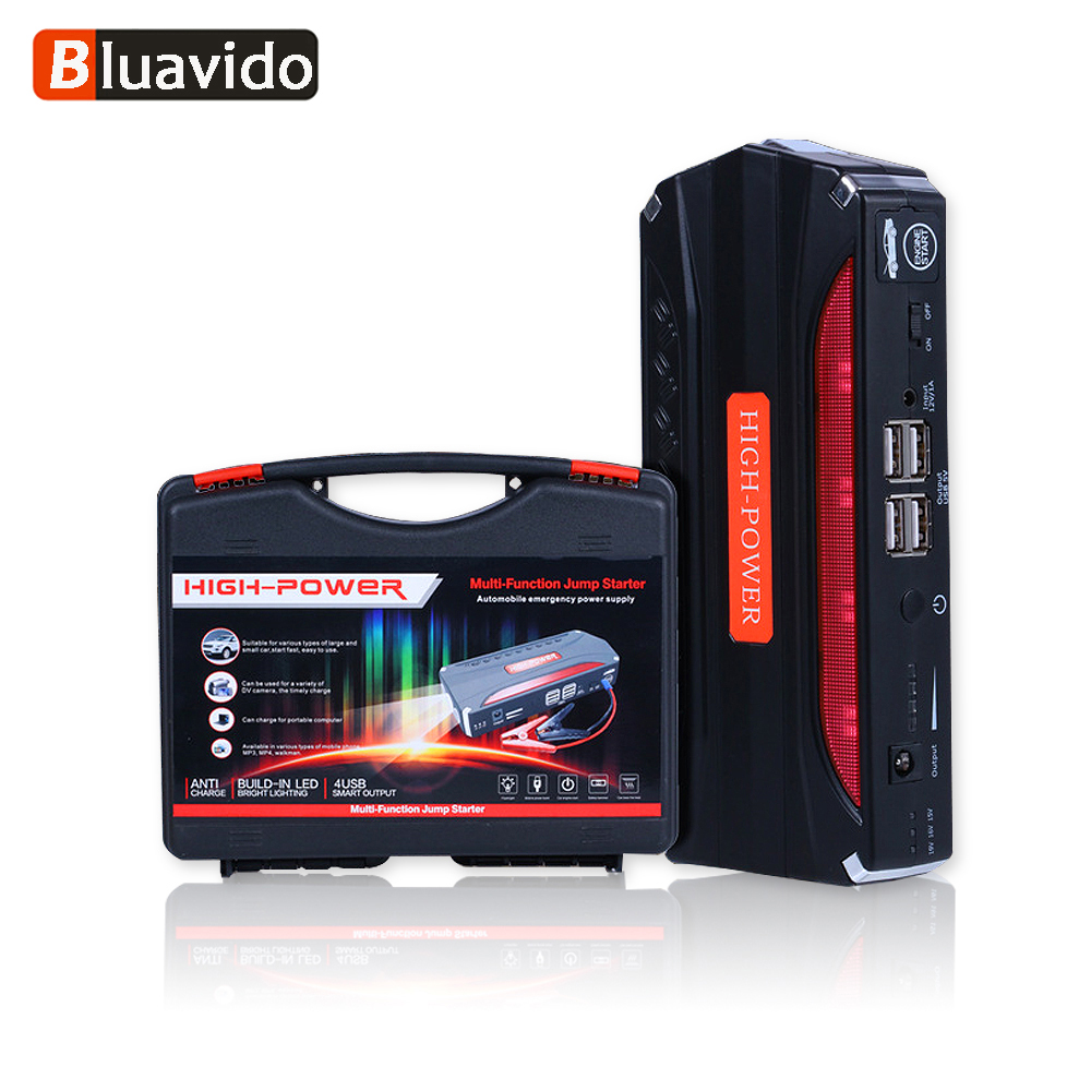 Bluavido 68800mAh Emergency Car Jump Starter 12V Portable Multi-function Rechargable Power Bank SOS LED LIGHT Safety Hammer