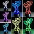 Chaohui Sweet Heart I Love You 3D Светодиодная лампа романтическая декоративная красочная Новинка свет мать подруги подарок на день Святого Валентина