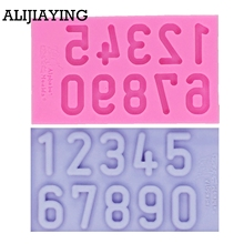 Fondant-Mold Clay Cake-Decorating-Tool Chocolate-Gumpaste-Moulds Sugarcraft Numbers Silicone