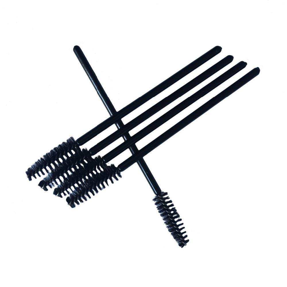 100pcs lot Eyelash Brush Semi Permanent Make up Beauty Disposable Eyelash Brush Comb Mascara Wands Eye Lashes Extension Tools in Eye Shadow Applicator from Beauty Health