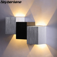 Modern Wall Light Led Aluminum Wall Lamp Mounted Square Lights For Corridor Aisle Bedside Home Bedroom Bathroom Lighting Indoor