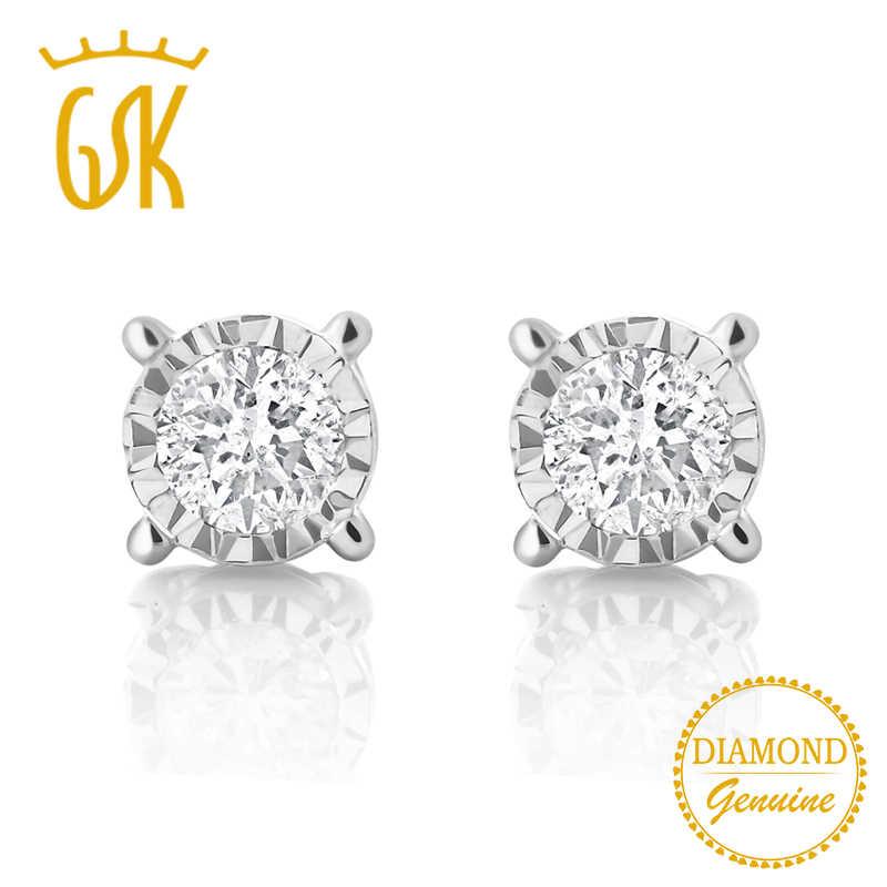 d63e8a5f96050 GemStoneKing IGI Certified Natural Diamond Jewelry 0.20cttw Illusion ...