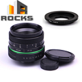 Green circle Lens 35mm Upgraded Style Manual Iris Lens with C- Mount 2016 New Suit For Fuji, Canon, Nik, Sony, Ol.ympus