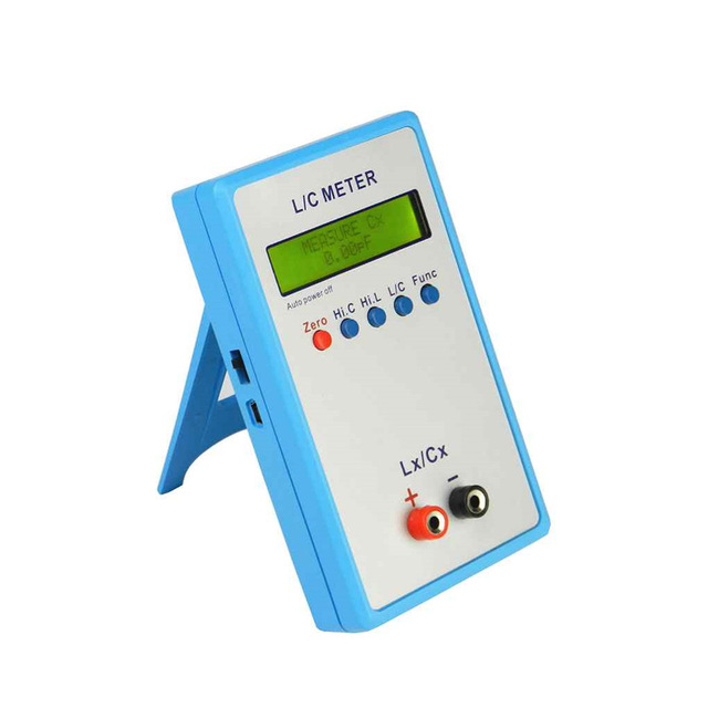 Handheld L/C Inductance Inductor Capacitance Meter Digital Bridge LCR Table LCD Display lcr handheld 10khz digital bridge portable resistance inductance capacitance meter lq 9101 parallel pocket meter