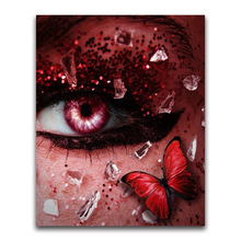 5D DIY Diamond Embroidery Mysterious Butterfly Eyes Square Rhinestone Sets Full  Painting Cross Stitch Needleworks