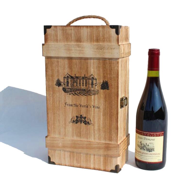 solo punto marrn caja de madera del vino caja de vino de madera cajas de