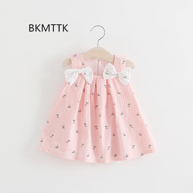 9322eb72f 2017, la nueva versión del vestido de bebé coreano, modelo de verano, color