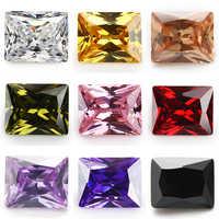 Размер 2x3 ~ 10x14 мм прямоугольной формы белый, розовый. Оранжевый, гранат, фиолетовый, оливковый 5A синтетический фианит камень для ювелирных из...