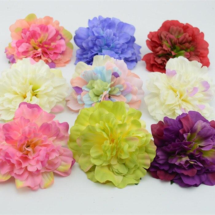 11 cm accesorios para el hogar de flores artificiales dahlia flor de seda bolsas