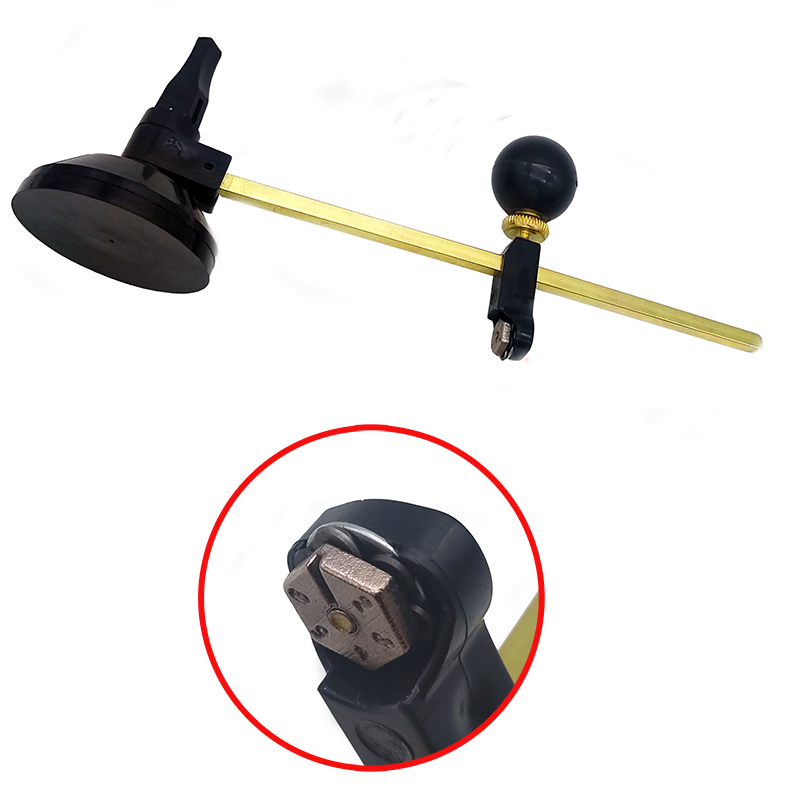 1 Piece 40cm Diameter Glass Cutter Circle 6 Knife Wheel Suction Cup Round Compass Professional Glass Cutting Tool