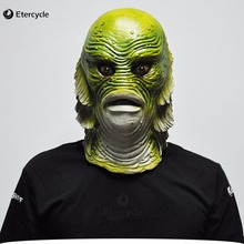 Scary Monster Latex Fish Mask Creature from the Black Lagoon Cosplay Merman Props Adult Halloween Masks