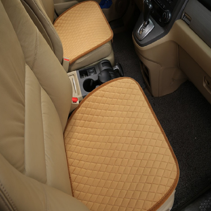 Car front Seat Covers velvet check design Universal Fit SUV sedans Chair Pad Cushion antiskid Wh