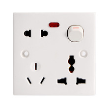 New EU AC Power Wall Socket Charger Plug Receptacle Outlet Panel Station 10A 250V 250v 13a dual ac power receptacle wall charger outlet plate usb built in socket uk plug