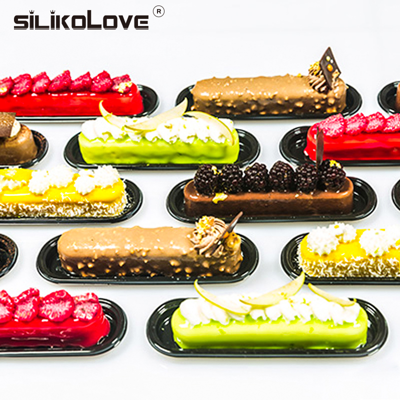 SILIKOLOVE Silicone Forms 6 cavities Cake Mold Silicone Mousse Pan Cake Mold Non-stick Baking Decoration Tools Silicone Forms