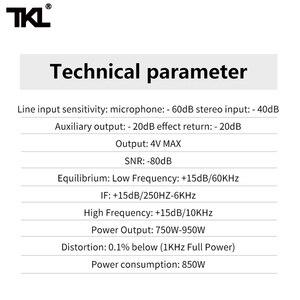 Image 5 - TKL SS1200 USB profesyonel ses mikseri 12 kanal ses karıştırma konsolları Bluetooth 16 yankı ekolayzır