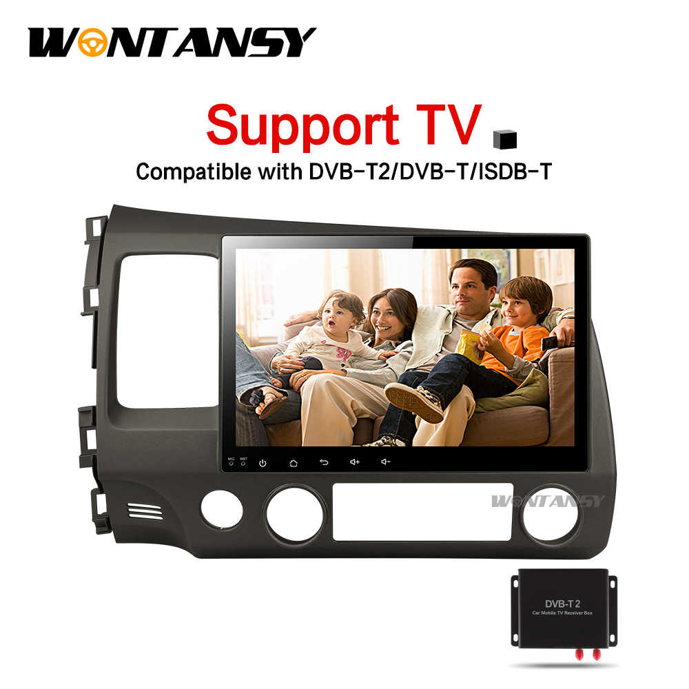 2G android car dvd gps player for honda civic 2006-2011 with radio gps navigation support mirror link steering wheel