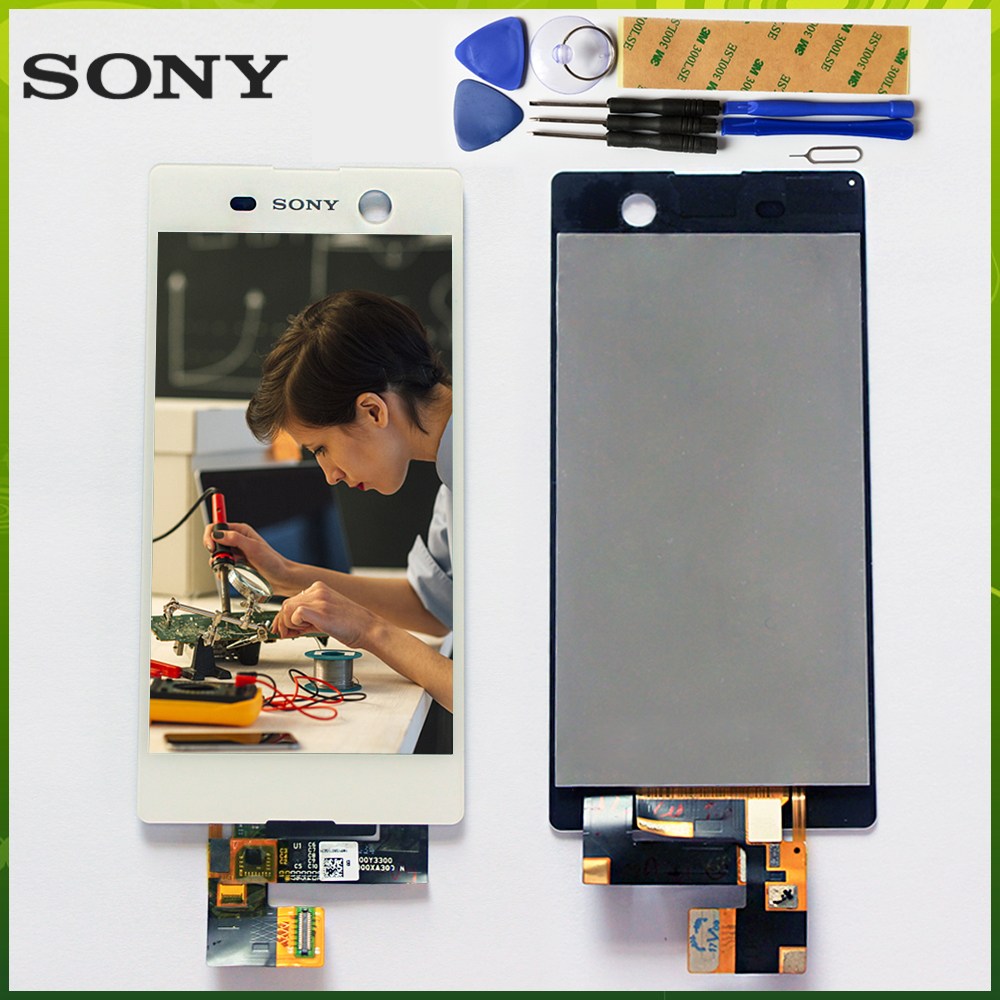 Sony 5.0 inch Touch Screen For Sony Xperia M5 E5603 E5606 E5653 LCD Display Digitizer Sensor Glass Panel Assembly Free Tools