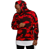 2019 Fashion Mens Drawstring Jackets Hooded Red Camouflage Hoodie High Street Sweatshirts Men Hip Hop Hoodies Sweatshirt