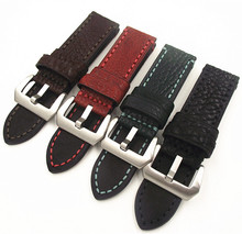 1PCS 20MM 22MM 24MM 26MM genuine leather Cow Watch band Litchi grain watch strap man straps -WB17111401