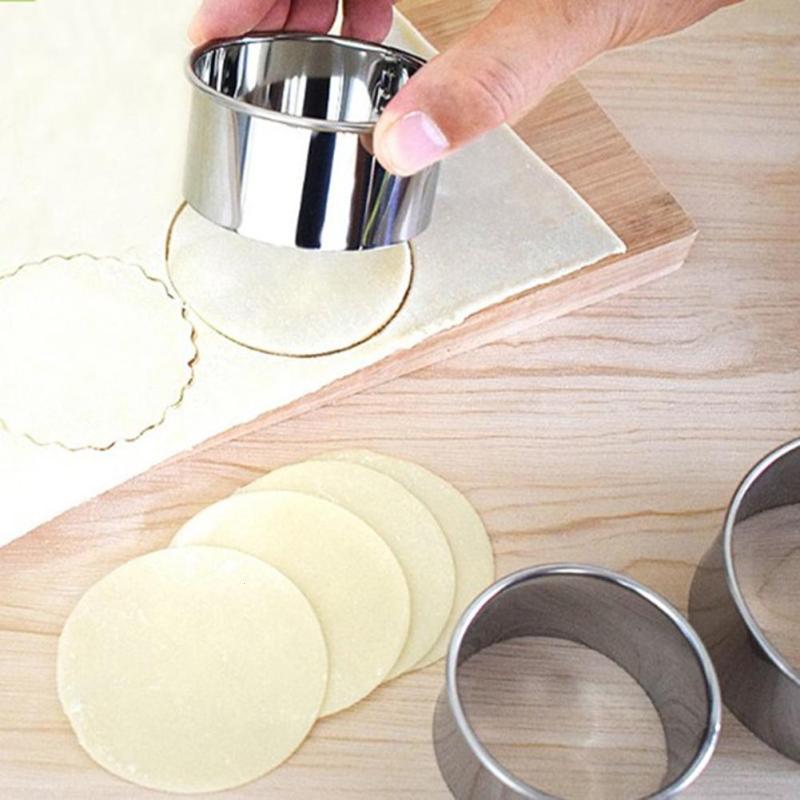 3PCS/Set Dumpling Wrappers Maker Round Lace Shape Cake Mould Egg Mold Dough Cutter Cookie Pastry Wrapper Dough Cutting Tool