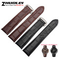 18mm 19mm 20mm 22mm Genuine Leather black brown Watch Band Strap for Mens or Womens bracelets with deployment buckle watchband