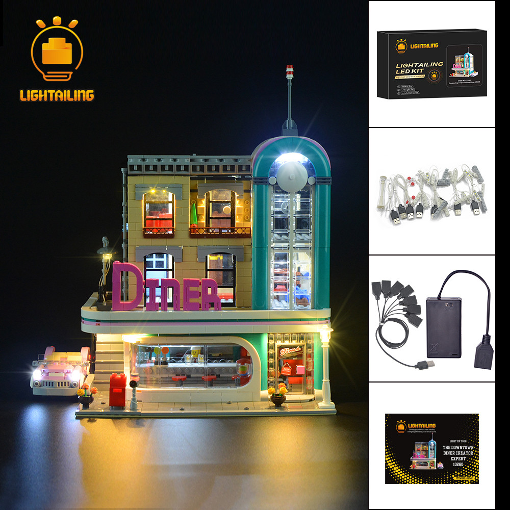 LED Licht USB Beleuchtung Kit ONLY Für LEGO 10232 Palace Cinema Street Lighting